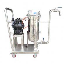 0.5平方过滤机 DL袋式过滤机厂家 侧入式过滤机