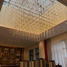 光立方满天星LED吊灯非标工程定制酒店大堂售楼部沙盘洽谈区装饰灯具