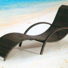 海南户外阳台躺床藤椅藤编躺椅花园别墅阳光房沙滩躺椅游泳池躺床折叠