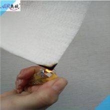 床帏用阻燃热风棉 白色防火棉生产厂家