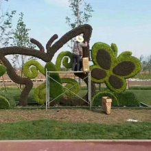 定制佛甲草五色草真植物主题造型 出售草花植物雕塑
