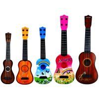 厂家直销可弹奏乐器梦幻木纹儿童吉他  仿真钢弦尤克里里玩具批发