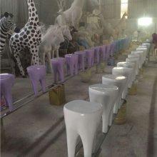 大型仿真牙齿模型雕塑/牙齿坐凳幼儿园卡通凳子/玻璃钢巨型牙齿小人仔广告宣传树脂彩绘摆件