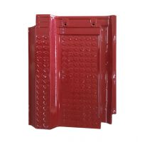 中国龙冠瓦业;大红连锁单波瓦--单波瓦-陶瓷单波瓦--单波瓦配件