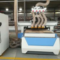 数控四工序开料机打孔开料雕刻开槽切割一体机工泰