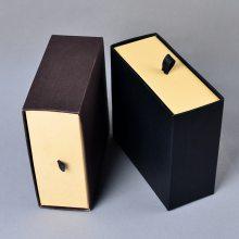 抽屉牛皮纸盒 黑色戒指首饰盒 饰品吊坠牛皮纸盒 通用牛皮纸礼物盒