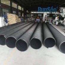 徐州大口径PE钢带增强波纹排污管
