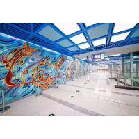 商场艺术彩绘喷铝板 你了解3D彩绘铝单板吗