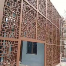 德普龙雕花镂空铝板_学校氟碳镂空铝板生产厂家
