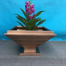 供应长方形户外花箱 菱形花盆 异形花器 不锈钢组合花箱 金属烤漆大型花钵 多边形花箱
