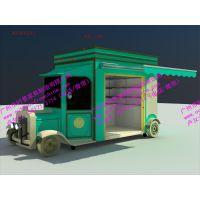 景区巴士售卖亭,火车造型贩卖花车,步行街奶茶饮料售卖屋,摊位小卖部花车