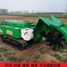 菜园旋耕施肥机图片 多功能履带旋耕除草机 座驾式旋耕筑垄机价格