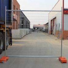 澳大利亚临时护栏 可移动围栏网 移动铁丝围栏网