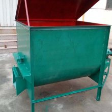 出料干净新型卧式拌草机 100公斤鸡鸭鹅饲料搅拌机 畜牧养殖饲料拌草机
