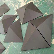 沃尔顿国际酒店门头装饰造型_锥形铝单板供应厂家