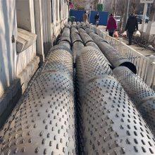 井壁管600 打井滤水管 钢制桥式透水钢管(实壁管)管厂