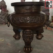 低价供应 铁香炉圆形平口香炉 新型消失模铸造 苍南誉盛法器