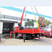 EQ5168JSQLV1型东风新款F5随车起重运输车 东风8吨随车吊厂家直销