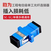 胜为厂家批发SC-SC单工光纤耦合器 法兰盘 网络跳线延长对接头 一件代发OCS-101