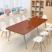 华泰圣瑞板式实木洽谈会议桌厂家零售
