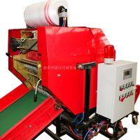 青储饲草粉碎打包机设备 玉米秸秆粉碎回收机 青储玉米秸秆打捆包膜机