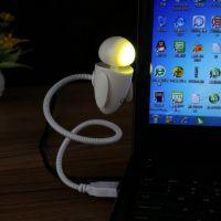 厂家直销机器娃娃小夜灯 USB迷你卡通机器人键盘灯 创意礼品led