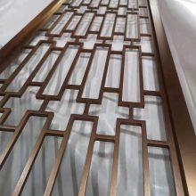 北京高档酒店订制酒店装饰青古铜金属花格