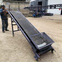 锅炉灰渣带式输送机 800mm移动式装车输送机 粮食装车用皮带机qk