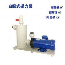 厂销 聚四氟乙烯自吸式磁力泵 耐酸碱耐腐蚀小型磁力泵 水循环泵