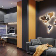 设计鉴赏:一抹性冷淡的高级灰,让这个单身公寓满满霸道总裁范儿,颜值爆了表!