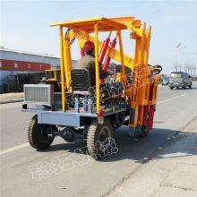 柴油动力护栏打桩机 自行走护栏液压打桩机 高速公路立柱打桩机