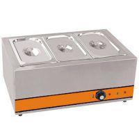 厂家供应不锈钢电热三盘电热保温汤池 快餐店厨房设备定制