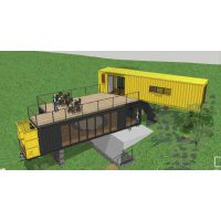 集装箱房.轻钢结构别墅 环保型建筑可移动建筑
