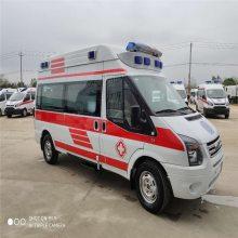 供应国六福特V348长轴高顶2.0柴油负压型救护车价格