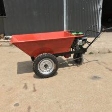 蔬菜大棚采摘运输车 汽油动力化肥运输手推车 搬运车