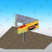 定制高炮单立柱三面广告牌 广告牌制作户外大型立柱 户外广告牌