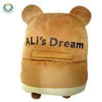 玩具厂家_毛绒公仔制作_毛绒玩偶_促销玩具定做卡通动物仓鼠靠垫抱枕
