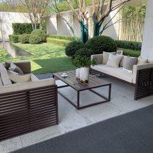 不锈钢沙发架子 防水布艺户外不锈钢沙发 玫瑰金沙发