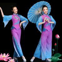 古典舞演出服女飘逸2018新款中国风广场舞秧歌服舞蹈服装成人套装