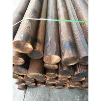 美国花旗松表面碳化木厂家 花旗松碳化木材木方庭院户外桌椅