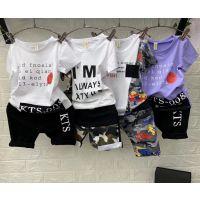 成都的童装批发市场夏天卖什么衣服好卖时尚日韩风男童短袖套装批发货到付款网站