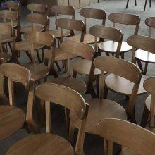 北美进口白橡实木餐椅 实木交叉椅子厂家 酒店实木餐椅系列 简约饭店餐椅