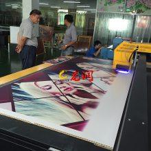 竹木纤维板5D背景墙制作机器 uv2030平板打印机