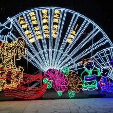 重庆商场灯光装饰 景区亮化动物灯 广场大型景观灯 LED灯光秀