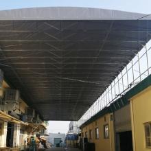 仓储推拉篷测量定制 厂家直销电动推拉篷 刀刮布遮阳棚