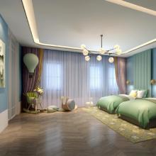 北欧简约美式纯色亚麻拼接窗帘客厅卧室成品半遮光加厚棉麻布料