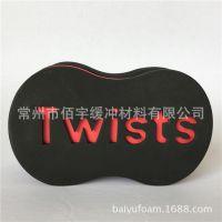 黑色twists卷发海绵 单面扭发海绵 hair twist sponge