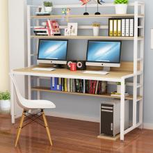 创意书架带书桌 一体台式电脑桌 家用卧室书房置物架组合 厂家直销