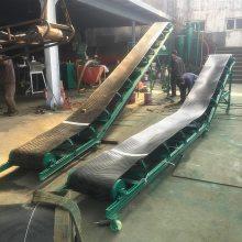 水泥厂装车输送机 800带宽爬坡输送机 纸箱传送带式输送机qk