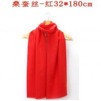 郑州哪儿有中国红年会大红围巾定制logo的